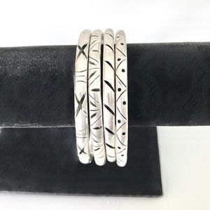 4 Sterling Silver Mexican Bracelets